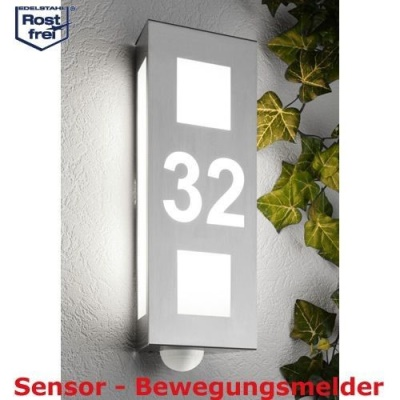 CMD Aqua Trilo Hausnummer u.Bewegungsmelder 26/HN/BM