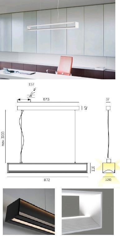 LED-Hängeleuchte CHUNNEL LED 569-104096 von Moltoluce