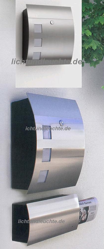 CMD Briefkasten in edelstahl mit Glasfenstern 46