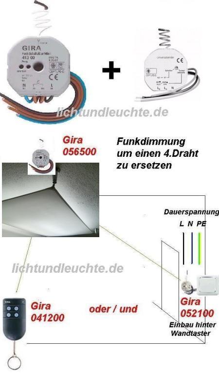 DIM Funkset Taster/Schalterdose z.B.  für Veroca-DIM