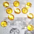 10x Ersatzkugeln zu Foscarini Caboche gold bernstein