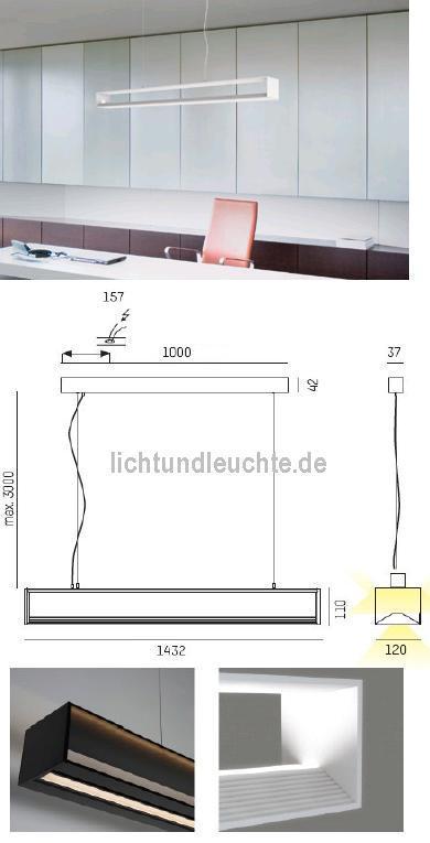 LED-Hängeleuchte CHUNNEL LED 569-107096 von Moltoluce
