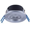 LED Spot Rund EcoMax 4.5W 330lm 2700K 36Grad Aluminium Gebürstet