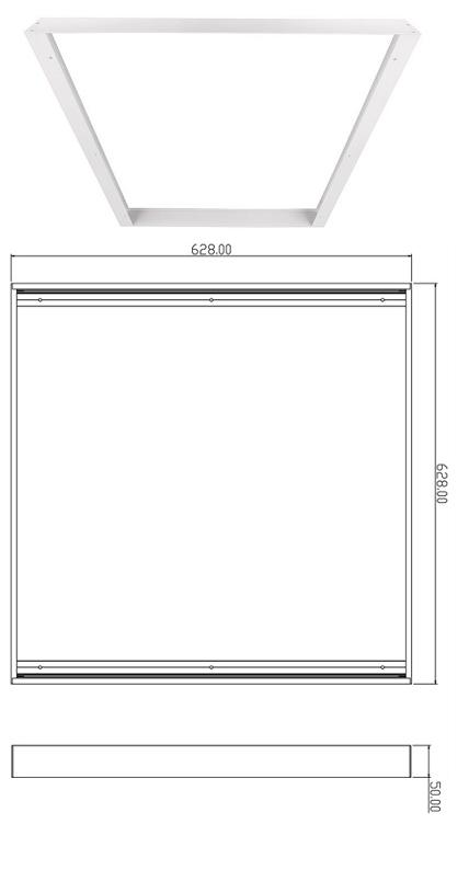 Aufbaurahmen für Panel 625x625 Anbaurahman